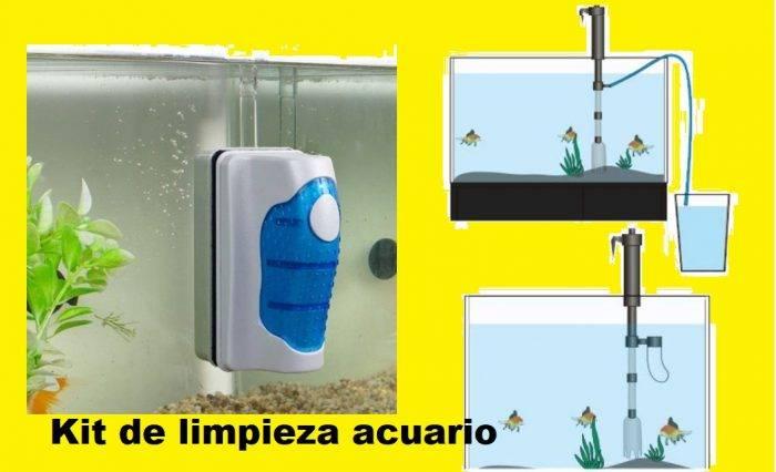 limpiar cristales acuario