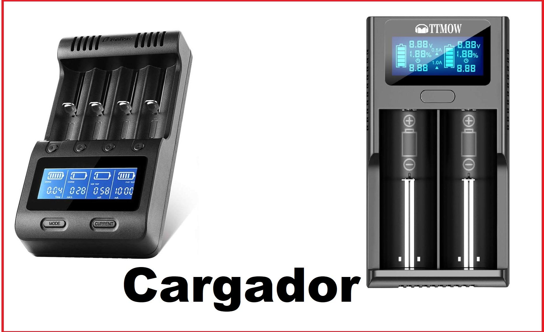 cargador bateria 18650